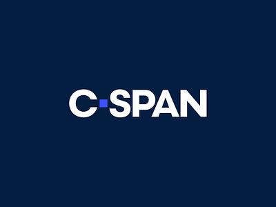 C-SPAN logo blue design logotype identity cable television politics branding logo