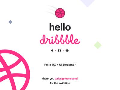 Hello, Dribbble!!