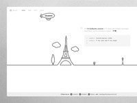 Draw me a portfolio ! portfolio draw line black white animation svg paris minimal simple layout