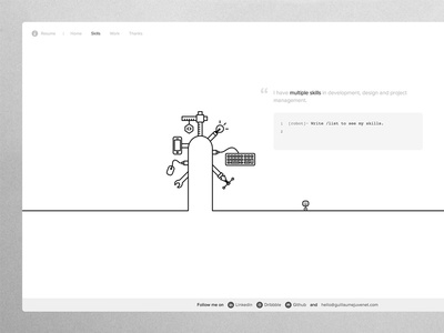 Draw me a portfolio ! portfolio draw line black white animation svg layout minimal simple mobile icon