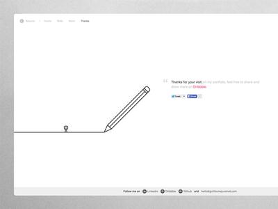 Draw me a portfolio ! simple minimal layout web paris svg animation white black line draw portfolio