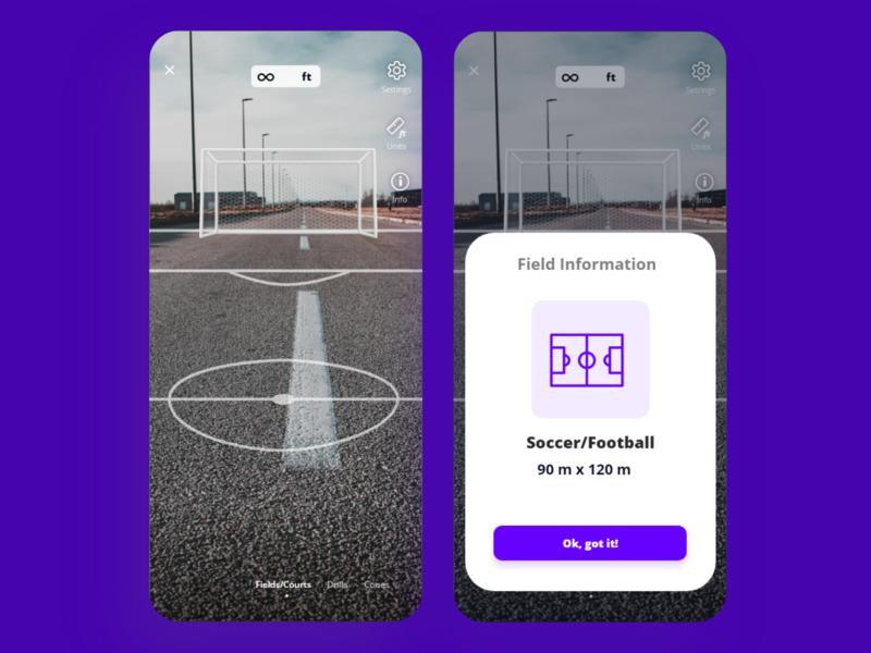 AR Fitness app -  AR Court placement