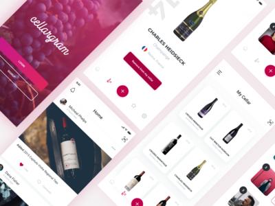 Wine Cellar App UX UI