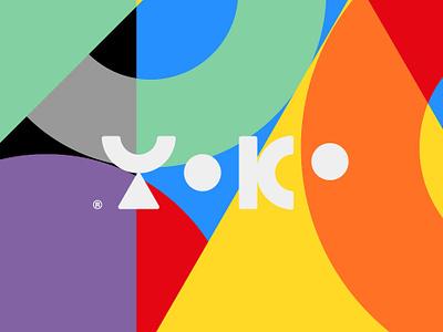 Yoko Logo typogaphy branding logo