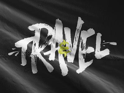 Travel&Rave lettering typogaphy identity branding logo