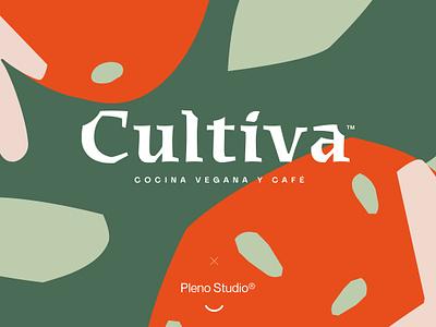 Cultiva Branding icon design typogaphy identity logo branding