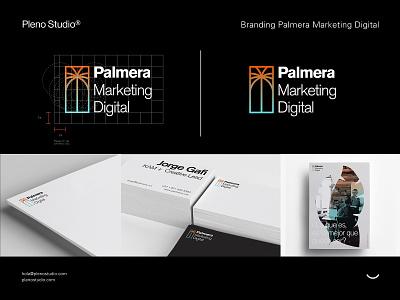 Palmera® Marketing Digital poster letterhead bussines card stationery design logo identity branding