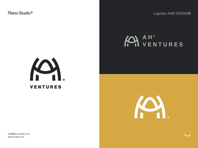 AH® VENTURES icon design logo identity branding
