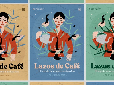 Lazos de Café poster art poster design plenostudio coffee design art cartel illustration poster