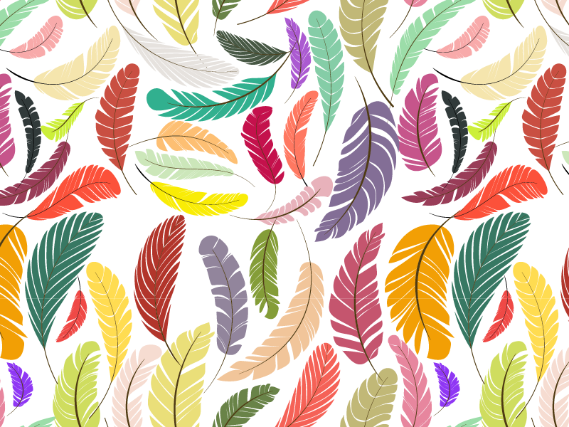 Seamless Feather Pattern pattern feather seamlessm