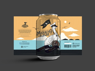 Beer can design and illustration.
