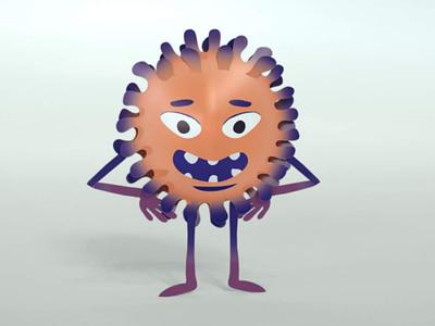 Virus virus cartoon animation