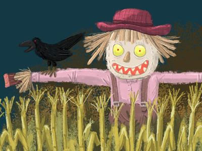 scarecrow halloween crow scarecrow