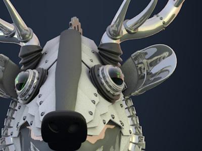 Carte De Voeux2016 animal mecanic deer