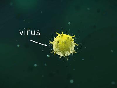 Virus francetv coronarender science medical animation 3d c4d virus