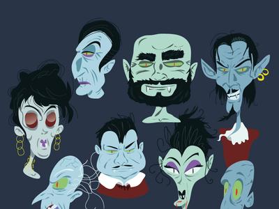 Vampire doodle cartoon vector art illustration vampire