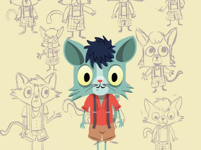 cat illustrator cc vector art cat animal illustration cartoon