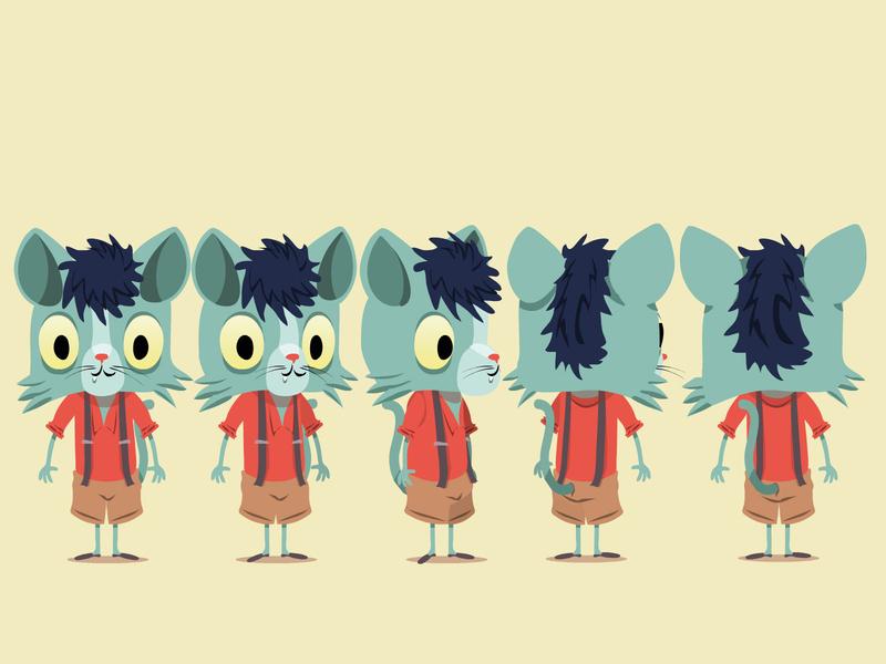Chat Turn chat cat turn illustration illustrator animation animal cartoon