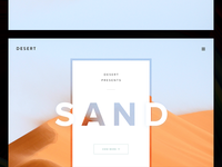 Design 003: Landing Page (above the fold)