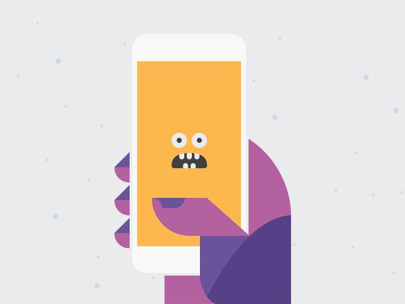 HelpCreature Selfie selfie hand iphone phone monster
