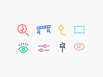 Various Icons search security plug select view settings category comment