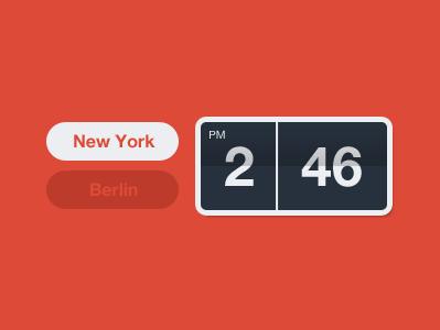 Afternoon in New York time clock flip new york berlin flat layervault