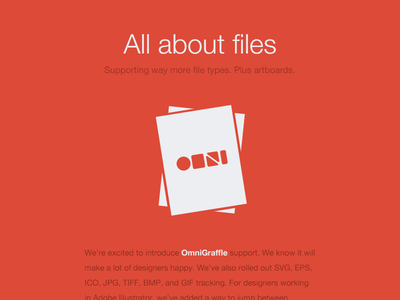 Email design for our new file support email red flat omnigraffle