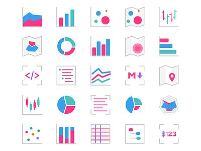 Vizy icons logo chart vector dashboard vizies vizy charts visualization icons