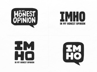 In My Honest Opinion Logo Directions