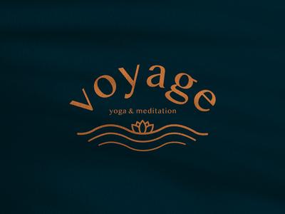 Voyage Yoga & Meditation Logo Concept