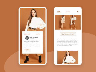 Forever 21 Redesign II produc fashion graphicdesign userexperience iphone mobile uiux uxui forever21