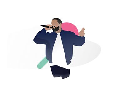 Drake Illustration shapes music singer mic artist hiphop rap drake rapper illustration