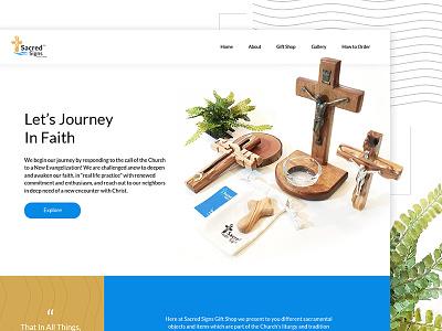 Sacred Signs Ph - Gift Shop ux gift shop catholic startup ui design logo branding website design