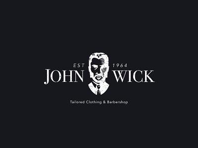 John Wick's Clothing & Barbershop illustration identity design wordmark logo design design symbol logo