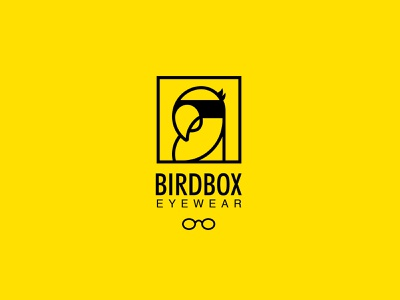 Bird Box Eyewear design icon wordmark identity design logo design logo symbol illustration branding