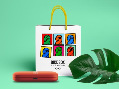 Bird Box Identity Design illustration symbol packaging identity design logo design branding