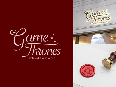 Game of Thrones Hotel and Events Venue logo challenge illustration typography wordmark identity design branding symbol logo