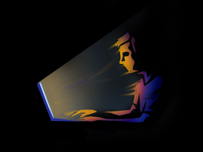 Screens. technology gradient editorial illustration illustration