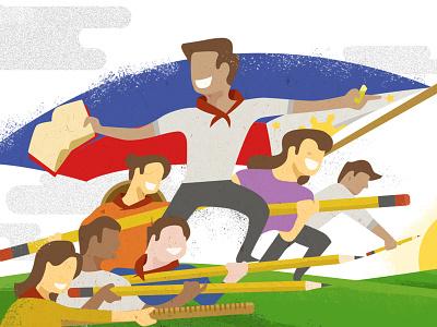 🇵🇭 Independence day philippines digitalart vector illustration