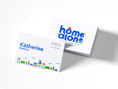 """Home Alone"" Child Day Care Center design logo design identity design logo branding"