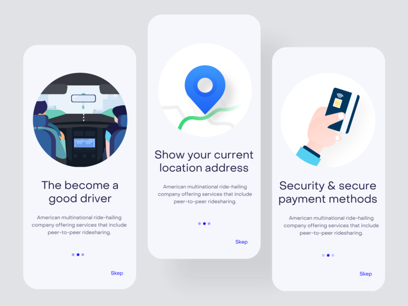 Rideshare mobile apps | Onbroding design | phone ios website typography illustraion illustrator minimal rideshare onboarding apps mobile design ui ux product creative