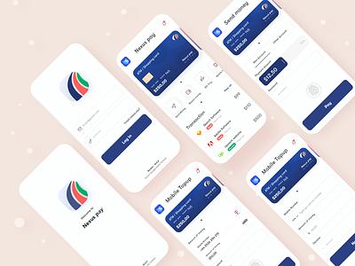 Nexus pay designs colorful mobile app ios financial finance app ux design product ui creative