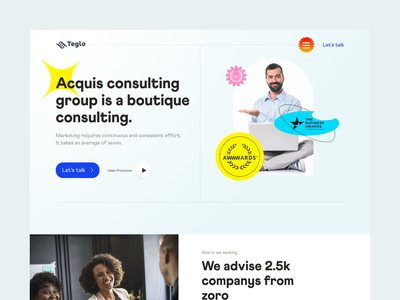 Consulting Landing Page | Product Website illustration b2b design typography clean branding website design product page web landing page consulting ui website minimal ux product creative