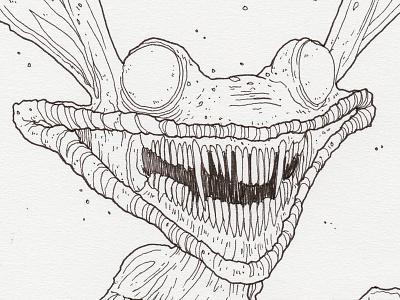 "Monster Mash / Inktober Day 9 ""Ikis"" ikis inktober ink drawing real monsters nickelodeon monster inktober2017"