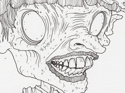 "Day 17 ""Goblin"" (Monster Mash / Inktober) inktober2017 monster goblin drawing ink inktober"