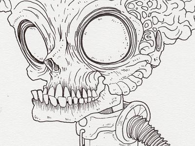 """Day 20 """"Martian"""" (Monster Mash / Inktober) mars attacks martian tavo montanez monster mash inktober2017 monster drawing ink inktober"""