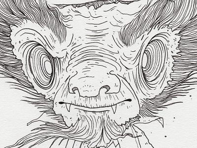 "Day 23 ""Mr. Hyde"" (Monster Mash / Inktober) mr hyde tavo montanez monster mash inktober2017 monster drawing ink inktober"