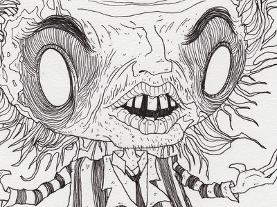"Day 26 ""Beetlejuice"" (Monster Mash / Inktober) beetlejuice tavo montanez monster mash inktober2017 monster drawing ink inktober"