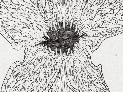 "Day 27 ""Demogorgon"" (Monster Mash / Inktober) netflix stranger things demogorgon demogorgon stranger things tavo montanez monster mash inktober2017 monster drawing ink inktober"