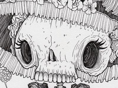"Day 31 ""La Catrina"" (Monster Mash / Inktober) mexico calavera posada la catrina tavo montanez monster mash inktober2017 monster drawing ink inktober"